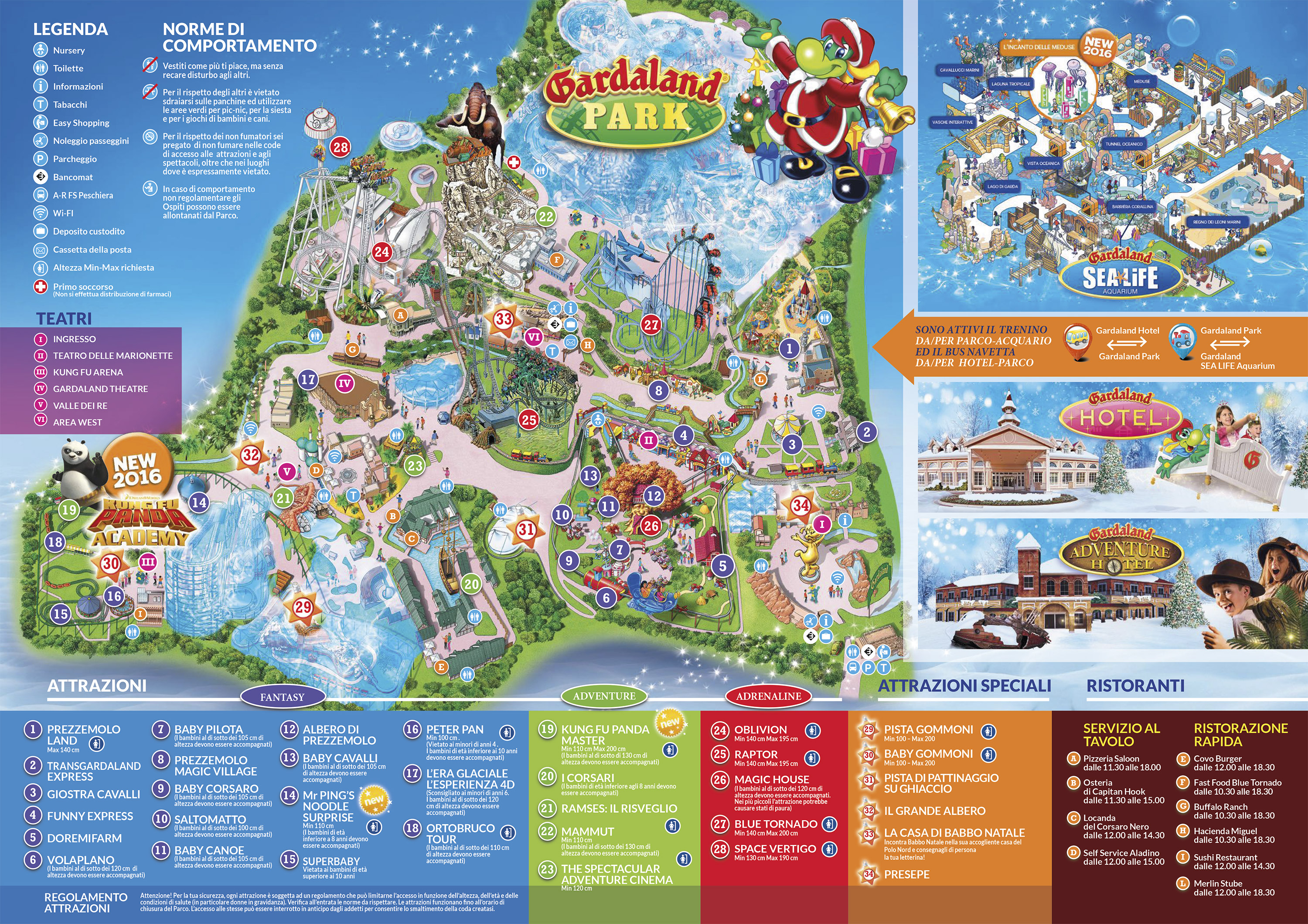 mappa gardaland magic winter 2016